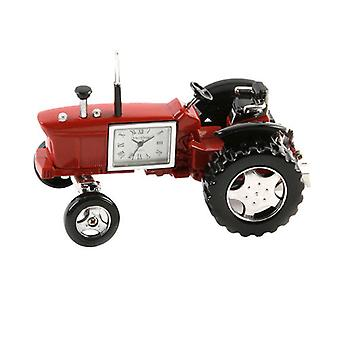 Miniature Farmers Red Tractor Novelty Desktop Collectors Clock 9236R