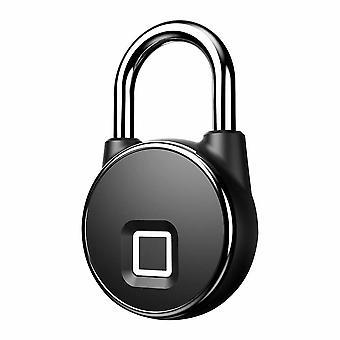 Keyless fingerprint hänglås med fingeravtryck - svart