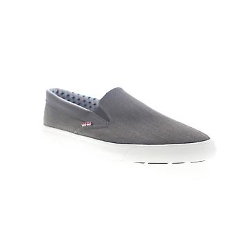 Ben Sherman Percy Slip On Mens Gray Canvas Low Top Sneakers Shoes