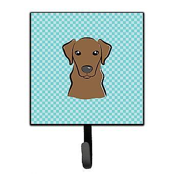 Checkerboard Blue Chocolate Labrador Leash or Key Holder