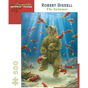 Robert Bissell: The Swimmer 500pc Jigsaw Puzzle by Pomegranate
