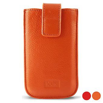 Coperchio mobile KSIX Pelle/Arancione