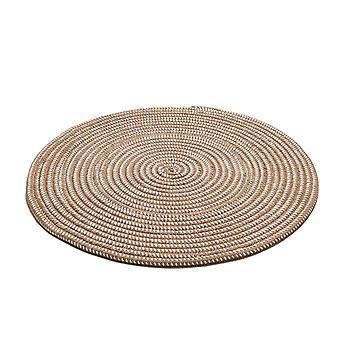 80cm rond gebreid tapijt