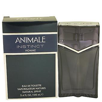 Instinto de animale de Animale Eau De Toilette Spray 3.4 oz/100 ml (hombres)