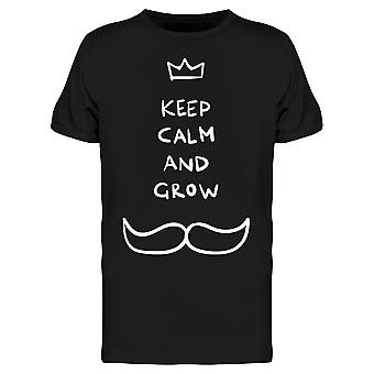 Keep Calm And Grow Moustache Tee Men's -Image by Shutterstock