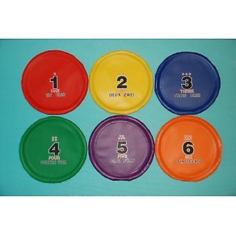 """EVC-0112, 8"""" Nummernscheiben - Satz von 6 Farben (PVC)"""