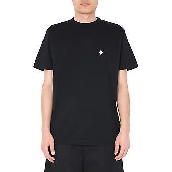 Marcelo Burlon Cmaa018e20jer0161001 Men's Black Cotton T-shirt