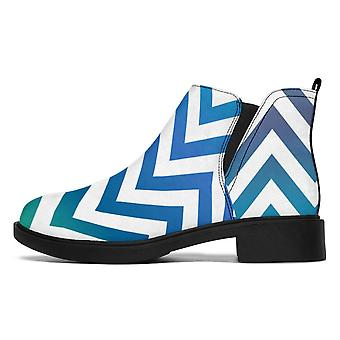 Designer Boots | Fashion Boots | Blue and Green Pattern