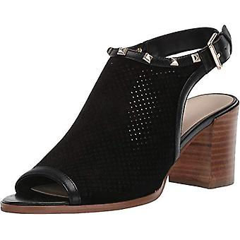 Marc Fisher Women's Shoes Parso Leather Peep Toe Casual Mule Sandals