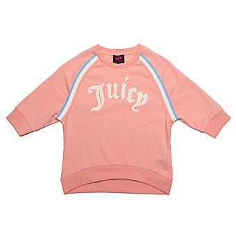 Girl's Juicy Couture Junior Gothic Script Sweat in Orange