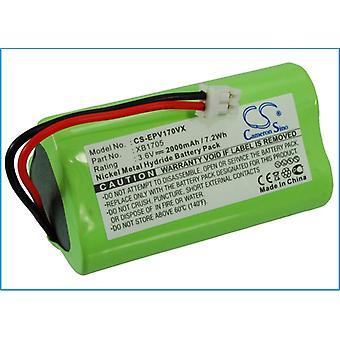 Bateria de vácuo para Shark Euro Pro XB1705 V1705 V1705i CS-EPV170VX 3.6V 2000mAh