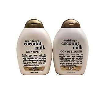 OGX Nourishing + Coconut Milk Shampoo & Conditioner Set 13 Ounce