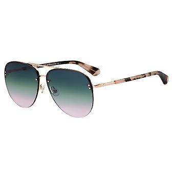 كيت سبيد Jakayla / S HT8 / JP ارتفع الذهب الوردي هافانا / الأخضر التدرج الوردي النظارات الشمسية