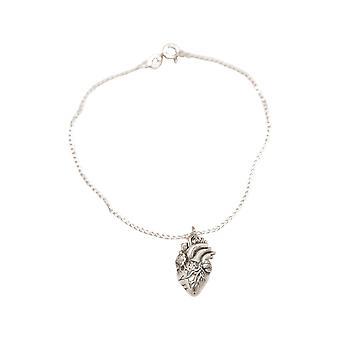 GEMSHINE Armband anatomisches Herz in 925 Silber, vergoldet, rose Made in Spain