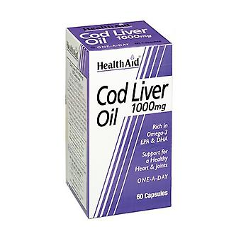 Cod Liver Oil 60 capsules of 1000mg