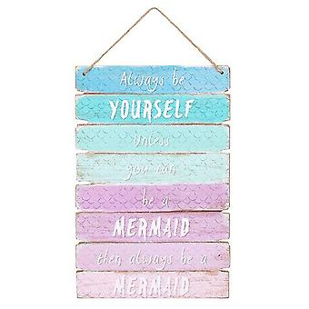 Something Different Mermaid Ombre Wall Sign