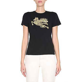 Etro 192429081001 Women's Black Cotton T-shirt