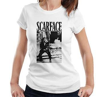 Scarface Machine Gun Scene Women's T-Shirt