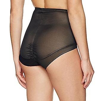 Marque - Arabella Women's Lissage Mesh Shapewear Brief, Noir, X-Large