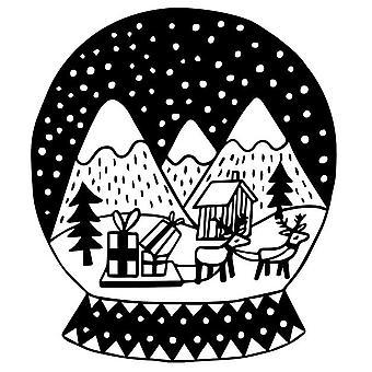 Aladine خشبية ختم عيد الميلاد الكرة