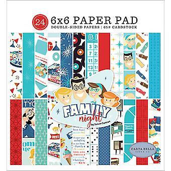 Carta Bella Family Night 6x6 Inch Paper Pad