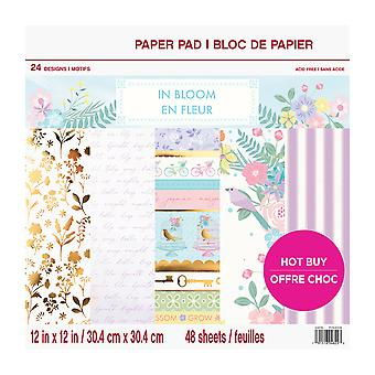 Craft Smith In Bloom 12x12 Inch Paper Pad