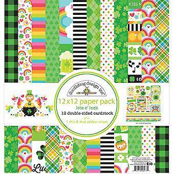 Doodlebug Design Lots o' Luck 12x12 Calowy pakiet papieru