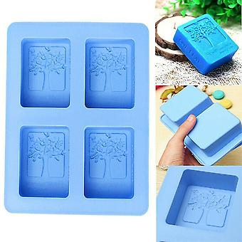 Handmade, Rectangle, Creative Tree Pattern Silicone Soap Molds
