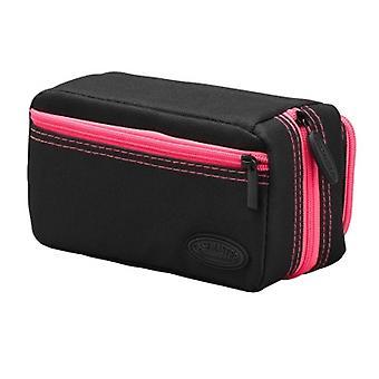 36-0702-12, Casemaster Plazma Pro Nero con custodia dardo rifinitura rosa e tasca del telefono