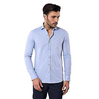 Mönstrad mjuk blå män's skjorta | wessi