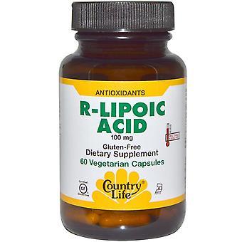Country Life, R-Liponsäure, 100 mg, 60 Vegetarische Kapseln