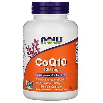 Now Foods, CoQ10 with Hawthorn Berry, 100 mg, 180 Veg Capsules
