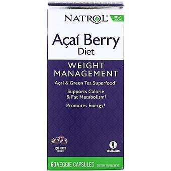 Natrol, Acai Berry Diet, Acai & Green Tea Superfoods, 60 Veggie Capsules