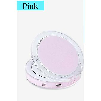 Folding Makeup Mirror With Led Light 5 Times Magnifying Cosmetic Mirror For Beauty Ring Light Mirror