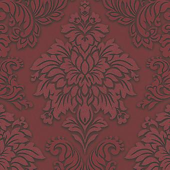 Lizzy London Baroque Damask Wallpaper Red AS Creation 36898-3