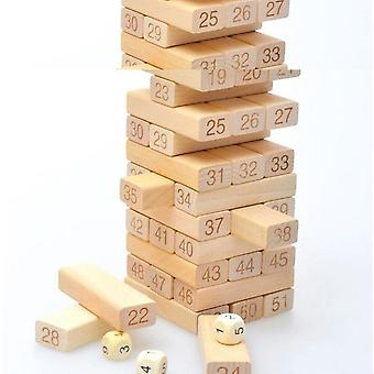 Fashion Adult Intelligence Small Digital Layer Stacking Log Blocks- Stacked High Jenga Leisure Wooden Toys