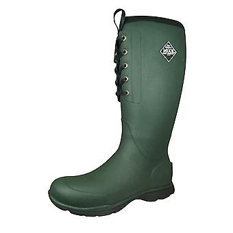 Muck Boots Artic Excursion Lace Mens Tall Wellington Boot - Green