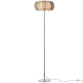 Lámpara BRILLANTE Lámpara de Pie Relax 2flg bronce/cromo ? 2x A60, E27, 30W, g.f. lámparas normales n. ent. | Con interruptor de pie ? Para