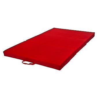 Colchão adormecido de colchão dobrável 200x120x10 cm vermelho