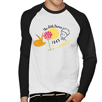 The Little Prince Fox & Rose 1943 Men's Baseball Long Sleeved T-Shirt