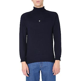 Nigel Cabourn Nck7blacknavy Men's Blue Wool Sweater