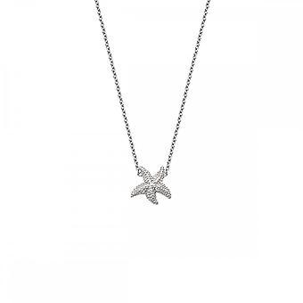 Hete diamanten sterling zilver eeuwige liefde ketting DN134