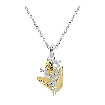 Dew Sterling Silver Lily Of The Valley Gold Plate Pendant 90807GD