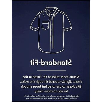 Goodthreads Män & apos; s Standard-Fit kortärmad tryckt Poplin Shirt, Vit Aloha ...