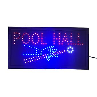 Neon Lights Led Animated Sign Lamp Billiards Pool Hall For Pool Cue House Bar Pub