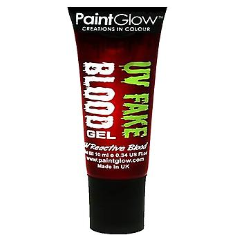 PaintGlow Uv Fake Blood - Hehkuu vihreänä - 13ml (uv Reaktiivinen veri)