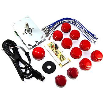 Red DIY USB Arcade Joystick