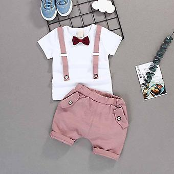 Kid Short, T Shirt + Pants Casual Outfits
