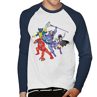 Masters Of The Universe Skeletor Evil Lyn Et Al Men's Baseball Long Sleeved T-Shirt