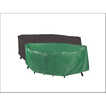 Bosmere Reversible Rectangular Patio Cover 6 Seater Green & Black P330